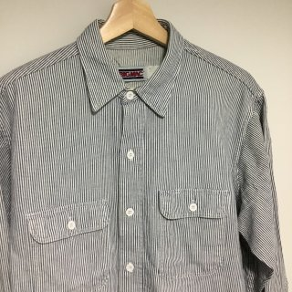 90s  BIG MAC ヒッコリーワークシャツ