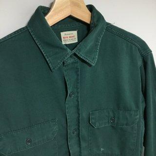 〜60s BIG MAC マチ付き ワークシャツ グリーン