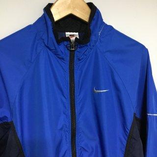 90s-00s ナイキ ナイロンジャケット 青黒 リフレクター