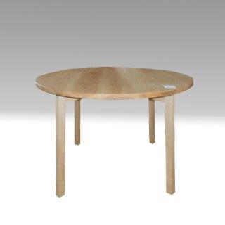 ダイニング丸テーブル ホワイトアッシュ材 杉工場 国産家具