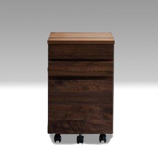 国産デスクワゴン クッカ Nワゴン アルダー材 / ウォールナット材  杉工場 国産家具