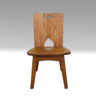 ダイニングチェア  C-102(板) タモ材 たかやま 国産無垢家具【展示在庫品】