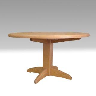 丸テーブル 120Φ 1本脚 タモ材 たかやま 国産無垢テーブル【展示在庫品】
