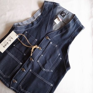 L.C. KING (POINTER BRAND) L.C. キング(ポインターブランド) ワークベスト RIGID DENIM SHELBY WORK VEST