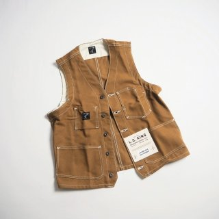 L.C. KING (POINTER BRAND) L.C. キング(ポインターブランド) ワークベスト BROWN DUCK SHELBY UTILITY VEST