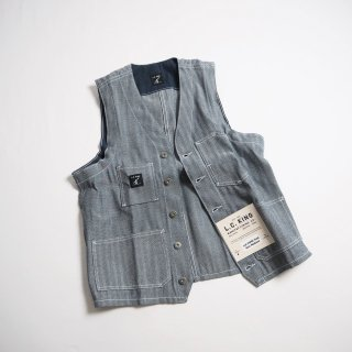 L.C. KING (POINTER BRAND) L.C. キング(ポインターブランド) ワークベスト FISHER STRIPE SHELBY UTILITY VEST