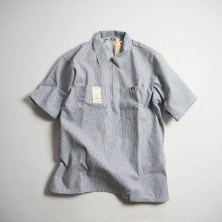BEN DAVIS ベンデイビス ハーフジップ半袖ワークシャツ 1/2 ZIP SHORT SLEEVE/HICKORY STRIPE