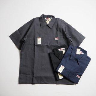 BEN DAVIS ベンデイビス ハーフジップ半袖ワークシャツ 1/2 ZIP SHORT SLEEVE/2カラー(ソリッドカラー)