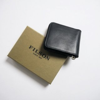 FILSON フィルソン ラウンドファスナー二つ折りウォレット DAWSON LEATHER ZIP WALLET/BLACK<img class='new_mark_img2' src='https://img.shop-pro.jp/img/new/icons13.gif' style='border:none;display:inline;margin:0px;padding:0px;width:auto;' />