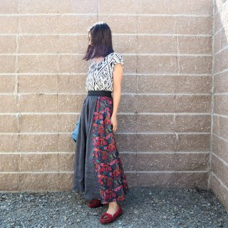 O'NEIL OF DUBLIN オニールオブダブリン COM SWING SKIRT コンビネーションスウィングスカート/ GREYMULTI<img class='new_mark_img2' src='https://img.shop-pro.jp/img/new/icons13.gif' style='border:none;display:inline;margin:0px;padding:0px;width:auto;' />