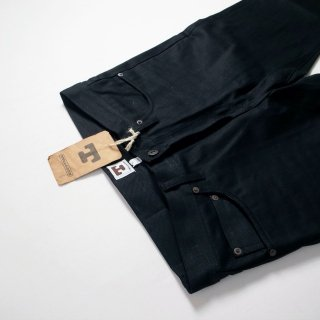 TELLASON テラソン ブラックジーンズ ANKARA (STRAIGHT LEG JEANS)/JAPANESE BLACK SELVEDGE 13.5oz