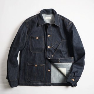 TELLASON STOCK テラソンストック デニムカバーオール COVERALL JACKET/CONE MILLS 14oz NON-SELVEDGE DENIM<img class='new_mark_img2' src='https://img.shop-pro.jp/img/new/icons13.gif' style='border:none;display:inline;margin:0px;padding:0px;width:auto;' />