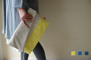 A4サイズの二つ折りクラッチバッグ<全3色*倉敷帆布使用>