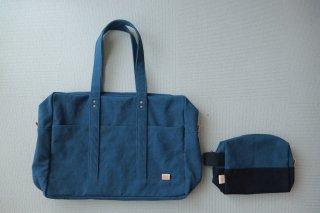 【送料無料!新生活2点セット】倉敷帆布*ボストンバッグ+ポーチ(色が選べる!)