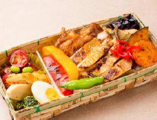 旬野菜グリルの若鶏西京焼き重