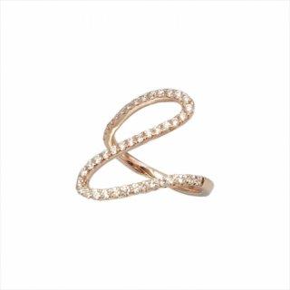 K18<br>ピンクゴールドダイヤモンドリング