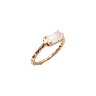K18<br>ピンクゴールドクォーツ/ダイヤモンドリング