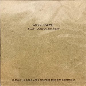 Agencement / Boxe Consonantique (CD)