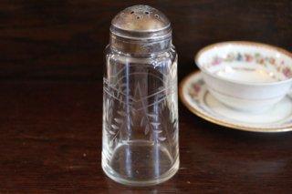 ガラス シルバープレート シュガーボトル