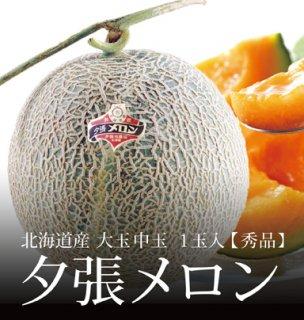 夕張メロン 秀品 大玉 中玉サイズ 1玉 約1.6kg