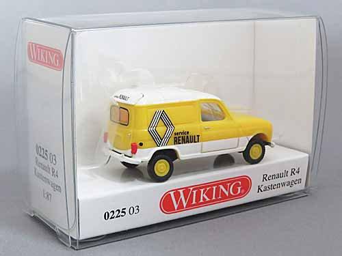 1//87 Wiking Renault R4 Kasten Renault Service 0225 03