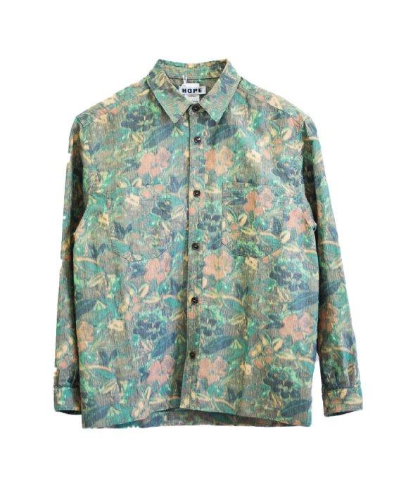 <img class='new_mark_img1' src='https://img.shop-pro.jp/img/new/icons5.gif' style='border:none;display:inline;margin:0px;padding:0px;width:auto;' />Over Shirt(Khaki Flower)【HOPE】