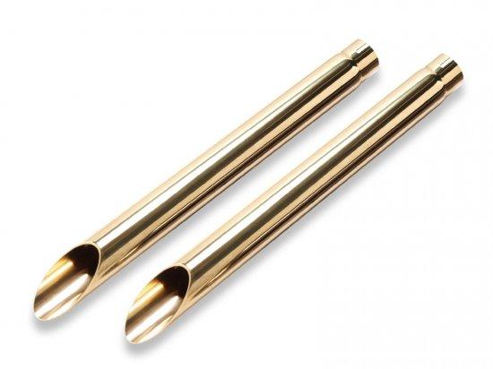 ハーレー | ダイナ用マフラー ブラスドラッグ/真鍮