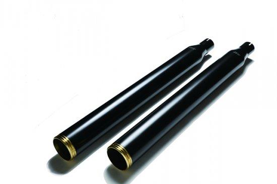 ハーレー|ソフテイル用マフラー グライドストレートカット 黒