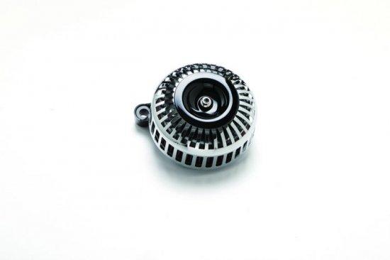 FXDR用エアクリーナーキット 67スリット/クロームメッキ×黒 ミニカバー  S&Sステルスステージ1付属