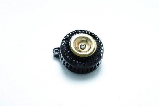 FXDR用エアクリーナーキット 67スリット/艶ありブラック×ブラス ミニカバー  S&Sステルスステージ1付属