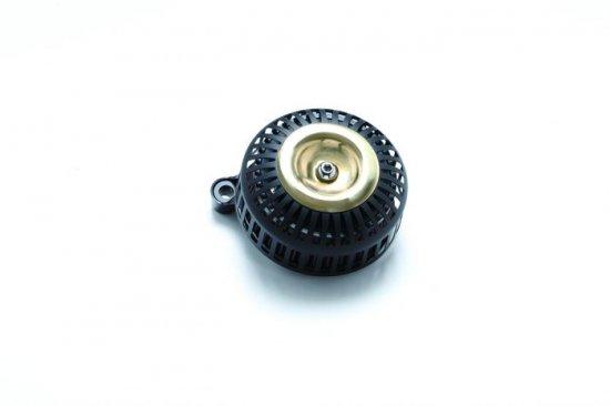FXDR用エアクリーナーキット 67スリット/艶なしブラック×ブラス ミニカバー  S&Sステルスステージ1付属