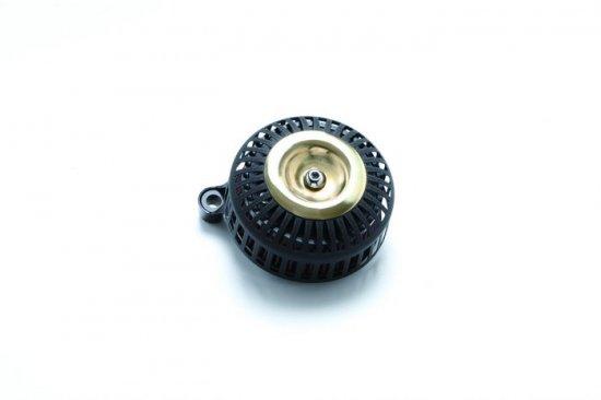 FXDR用エアクリーナーキット 67スリット/黒リンクル×ブラス ミニカバー  S&Sステルスステージ1付属