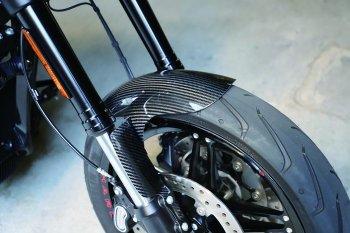 ハーレー FXDR114 パーツ|ドライカーボンフロントフェンダー