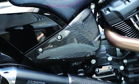 ハーレー FXDR114 パーツ|ドライカーボンサイドカバー