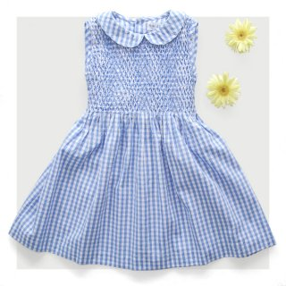 Malvi & Co. - Gingham check smocked dress (Blue)