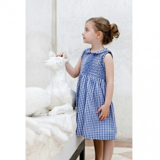 Malvi & Co. - Gingham check smocked dress (Navy)