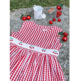 Malvi & Co. - Gingham check cherry dress (Red)
