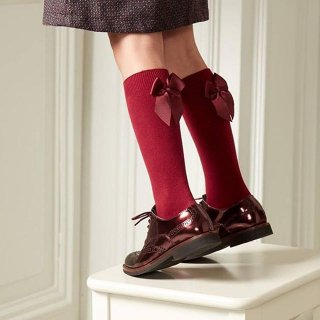 Condor - Back ribbon knee high socks