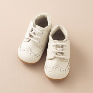 PEEP ZOOM - Wing tip Shoes(white)
