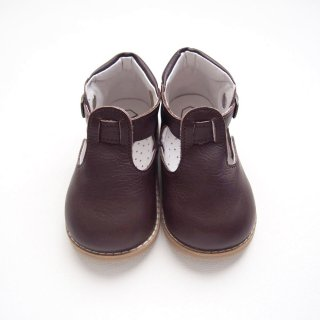 PEEP ZOOM - T-Strap Shoes(Brown)