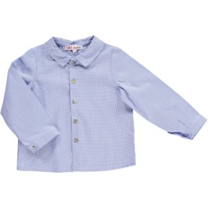<img class='new_mark_img1' src='https://img.shop-pro.jp/img/new/icons20.gif' style='border:none;display:inline;margin:0px;padding:0px;width:auto;' />10%OFF Amaia Kids AW18 - Chickadee shirt (Blue mini-vichy)