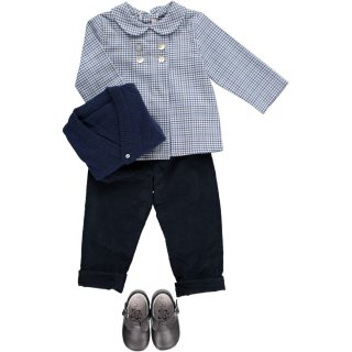 <img class='new_mark_img1' src='https://img.shop-pro.jp/img/new/icons14.gif' style='border:none;display:inline;margin:0px;padding:0px;width:auto;' />Amaia Kids - Thomas shirt (Blue)