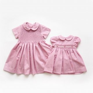 <img class='new_mark_img1' src='https://img.shop-pro.jp/img/new/icons14.gif' style='border:none;display:inline;margin:0px;padding:0px;width:auto;' />Malvi & Co. - Diamond flannel dress (Pink)