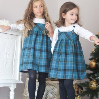 <img class='new_mark_img1' src='https://img.shop-pro.jp/img/new/icons14.gif' style='border:none;display:inline;margin:0px;padding:0px;width:auto;' />Camellia - Tartan dress (Green)
