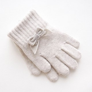 Condor - Ribbon Gloves(White/Camel)