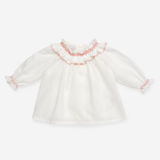 <img class='new_mark_img1' src='https://img.shop-pro.jp/img/new/icons14.gif' style='border:none;display:inline;margin:0px;padding:0px;width:auto;' />PAZ Rodriguez - Smocked baby blouse