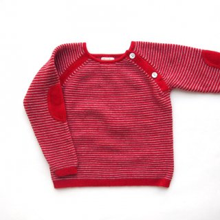 <img class='new_mark_img1' src='https://img.shop-pro.jp/img/new/icons14.gif' style='border:none;display:inline;margin:0px;padding:0px;width:auto;' />Malvi & Co. - Stripe sweater (Red)