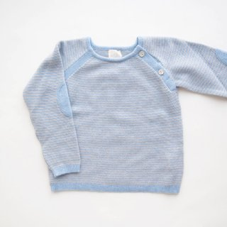 <img class='new_mark_img1' src='https://img.shop-pro.jp/img/new/icons14.gif' style='border:none;display:inline;margin:0px;padding:0px;width:auto;' />Malvi & Co. - Stripe sweater (Light blue)