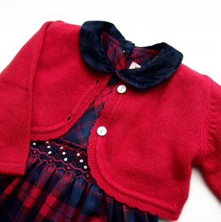 <img class='new_mark_img1' src='https://img.shop-pro.jp/img/new/icons14.gif' style='border:none;display:inline;margin:0px;padding:0px;width:auto;' />Malvi & Co. - Scallops bolero(Red)