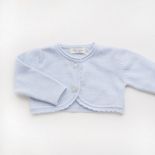 <img class='new_mark_img1' src='https://img.shop-pro.jp/img/new/icons14.gif' style='border:none;display:inline;margin:0px;padding:0px;width:auto;' />Malvi & Co. - Scallops bolero(Baby blue)